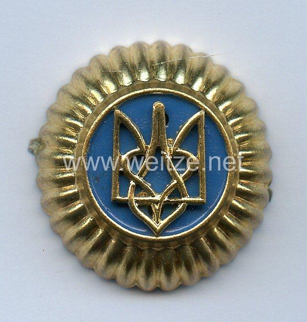 Wehrmacht Heer Große Kokarde für die Schirmmütze für die ukrainischen Freiwilligen in der Wehrmacht