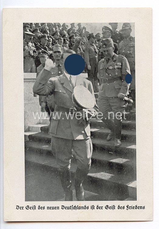 """III. Reich - Propaganda-Postkarte - """" Adolf Hitler - Der Geist des neuen Deutschlads ist der Geist des Friedens """""""