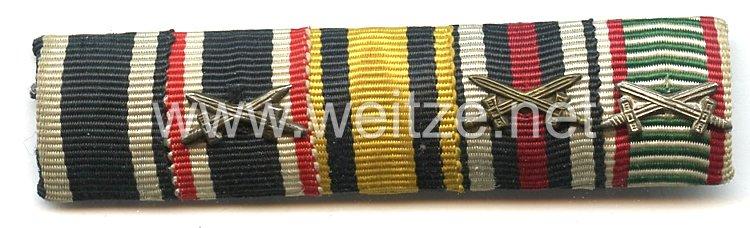 Bandspange für einen württembergischen Veteranen im 1. Weltkrieg und späteren Wehrmachts-Angehörigen