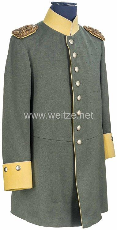 Preußen feldgrauer Waffenrock M 1915 für die künftige Friedensuniform aus dem persönlichen Besitz Kaiser Wilhelm II. als Generalfeldmarschall und Chef des2. Hannoverschen Dragoner-Regiment Nr. 16