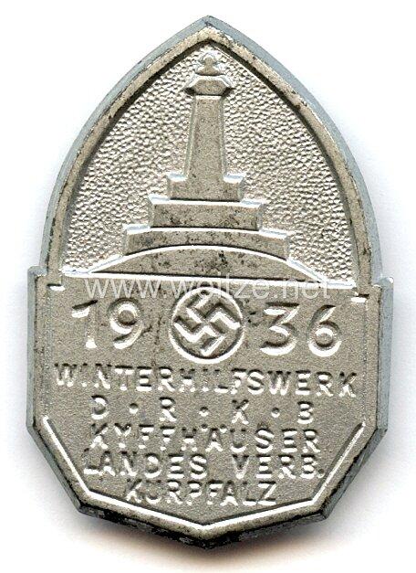 III. Reich - Winterhilfswerk DRKB Kyffhäuser Landesverband Kurpalz 1936