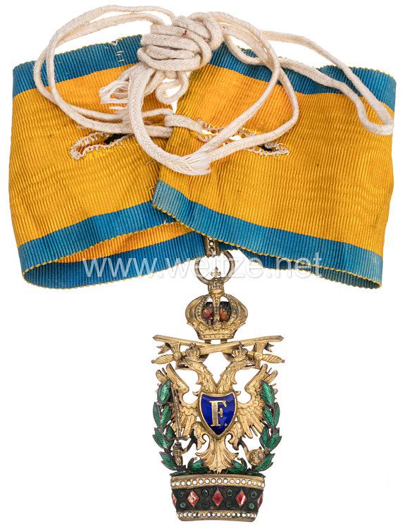 Kaiserlich Österreichischer Orden der Eisernen Krone 2. Klasse mit Kriegsdekoration und Schwertern