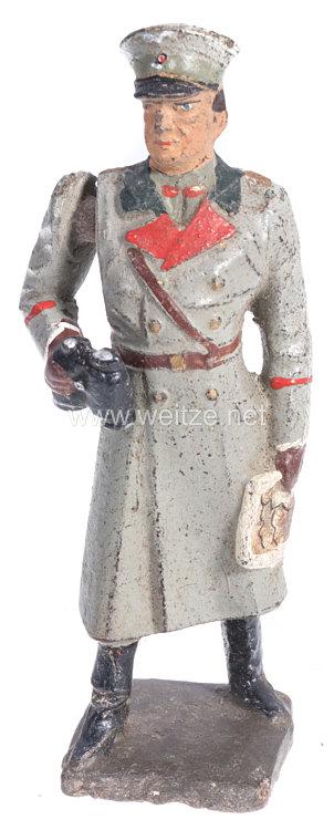 Lineol - Heer General mit Fernglas am beweglichen Arm