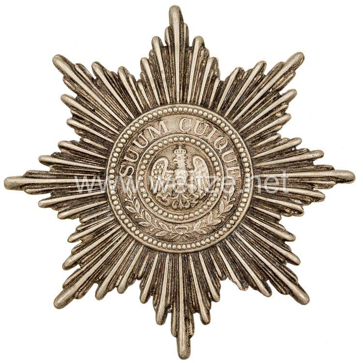 Preußen Gardestern für einen Kartuschkasten für Mannschaften und Unteroffiziere