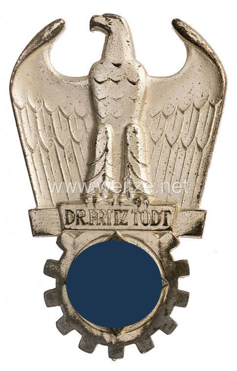 Dr. Fritz Todt Preis in Silber
