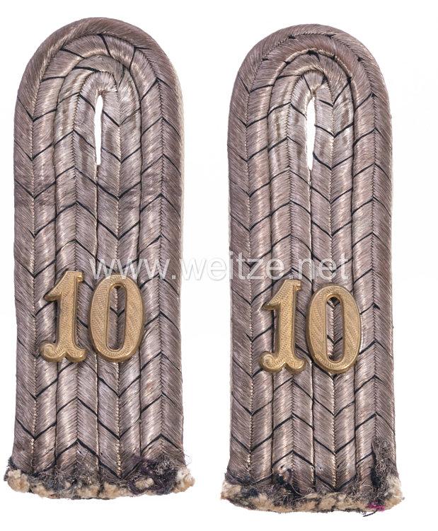 Preußen1. Weltkrieg Paar Schulterstücke für einen Leutnant imReserve-Infanterie Regiment Nr. 10