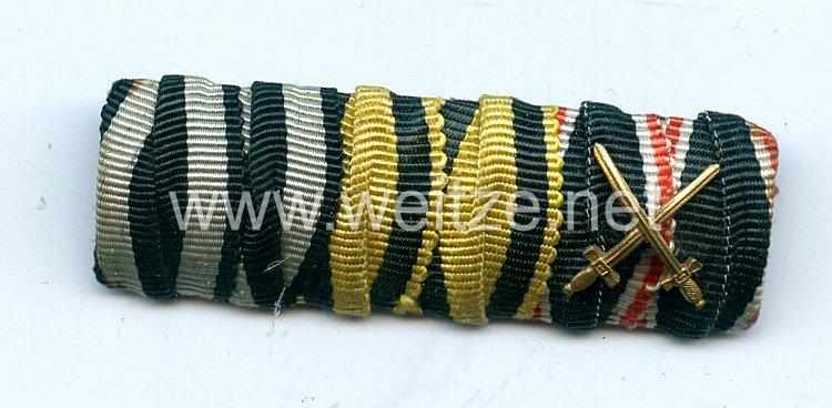 Bandspange für einen württembergischen Veteranen im 1. Weltkrieg