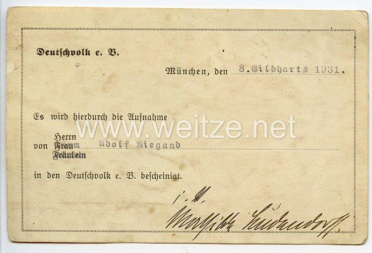 1. Weltkrieg - Originalunterschrift von Frau Mathilde Ludendorff