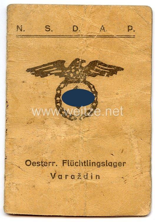NSDAP - Oesterr. Flüchtlingslager Varazdin - Zentralstelle des Flüchtlings-Hilfswerk in Jugoslawien - Ausweis
