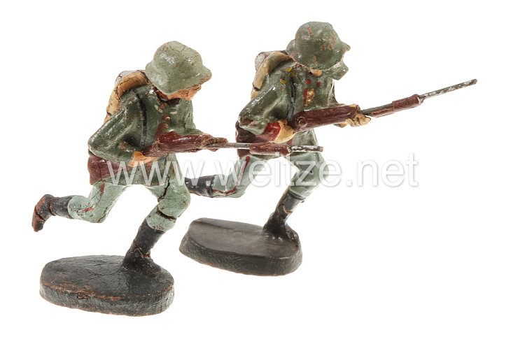 Elastolin - Heer 2 Soldaten stürmend