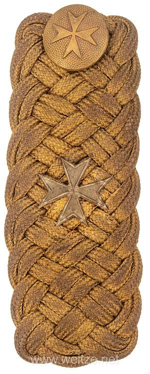 Preußen Johanniter - Orden Einzelnes Schulterstück eines delegierten Ordensritters