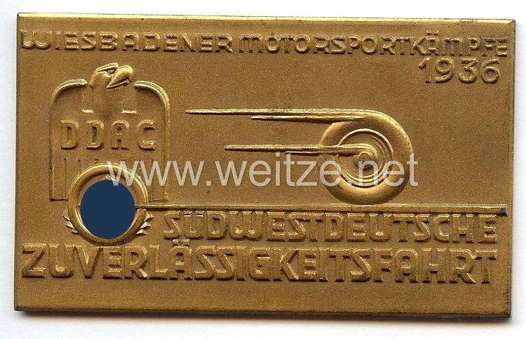 Der Deutsche Automobil Club ( DDAC ) - nichttragbare Teilnehmerplakette -