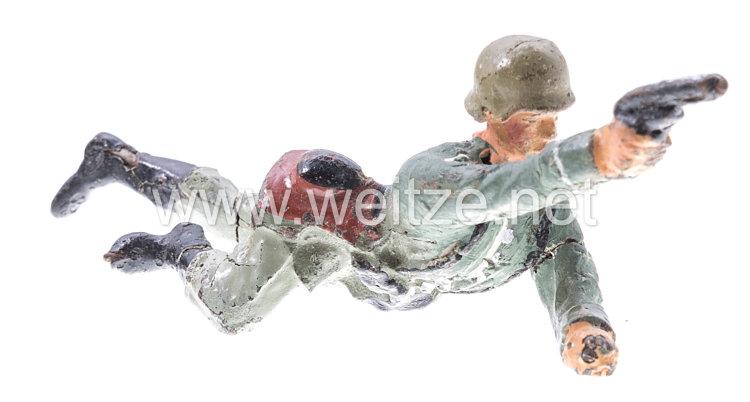 Lineol - Heer Soldat kriechend mit Pistole