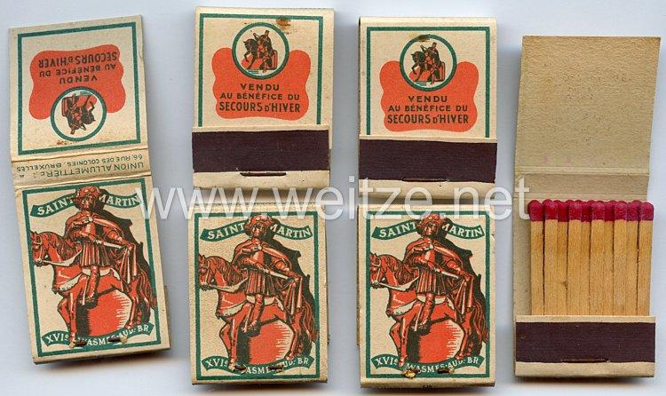 WHW - Gau 47 : Belgien - WHN Winterhulp - 4 x Streichholzbriefchen Saint Martin