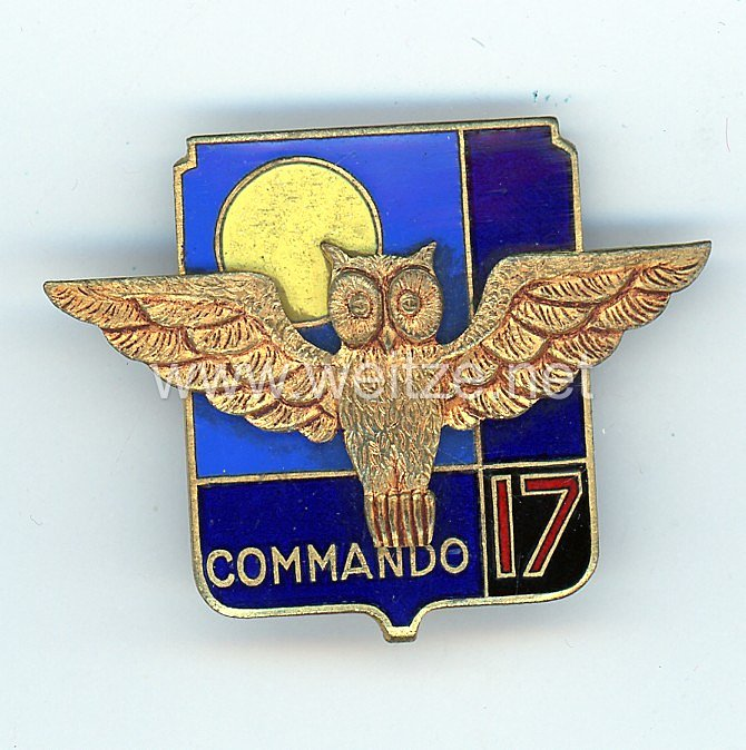 """Frankreich Indochina Abzeichen """"Commando 17"""""""