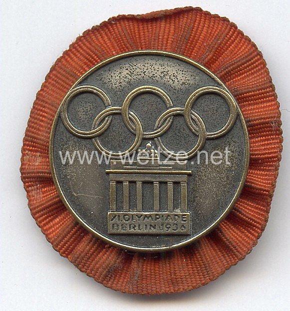 XI. Olympischen Spiele 1936 Berlin - Teilnehmer-Plaketten für das Internationale Studenten- und Jugendlager - Abzeichen für das Turn-Vorführ-Team