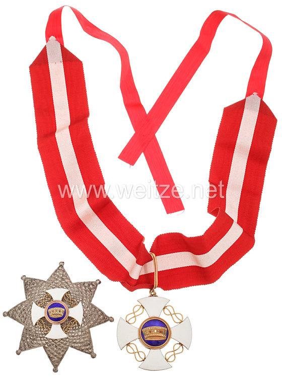 Orden der Italienischen Krone Kommandeurkreuz und Bruststern