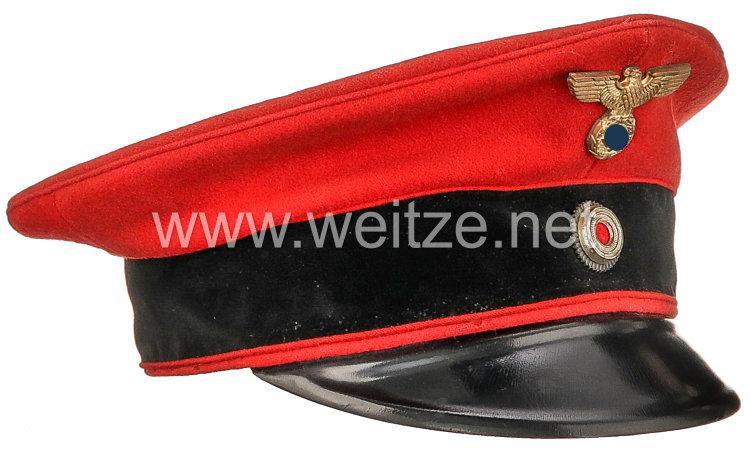 Deutsche Reichsbahn rote Schirmmütze für Bahnhofsvorsteher / Fahrdienstleiter