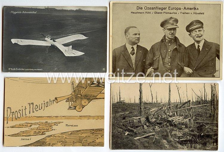 Fliegerei 1. Weltkrieg - 4 Postkarten