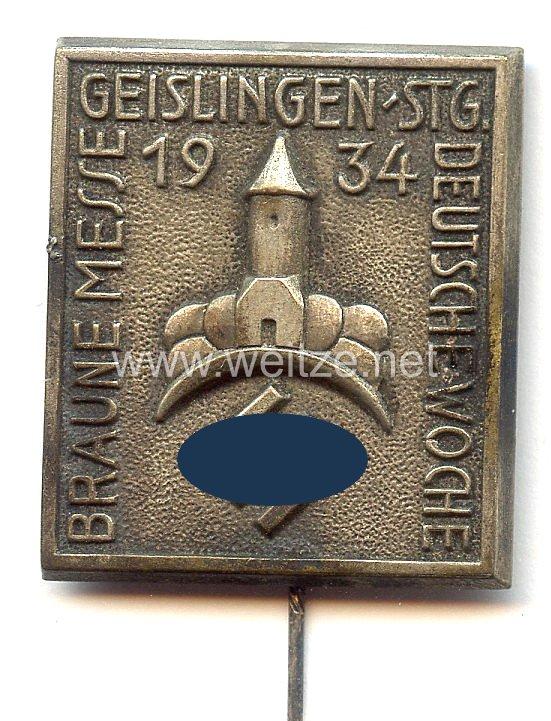 III. Reich - Braune Messe 1934 Geislingen-Stuttgart Deutsche Woche